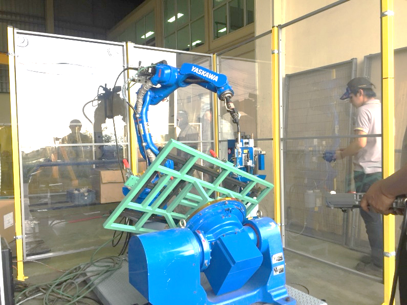 Welding Robot System  With Positioner